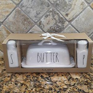Rae Dunn BUTTER, SALT& PEPPER Containers